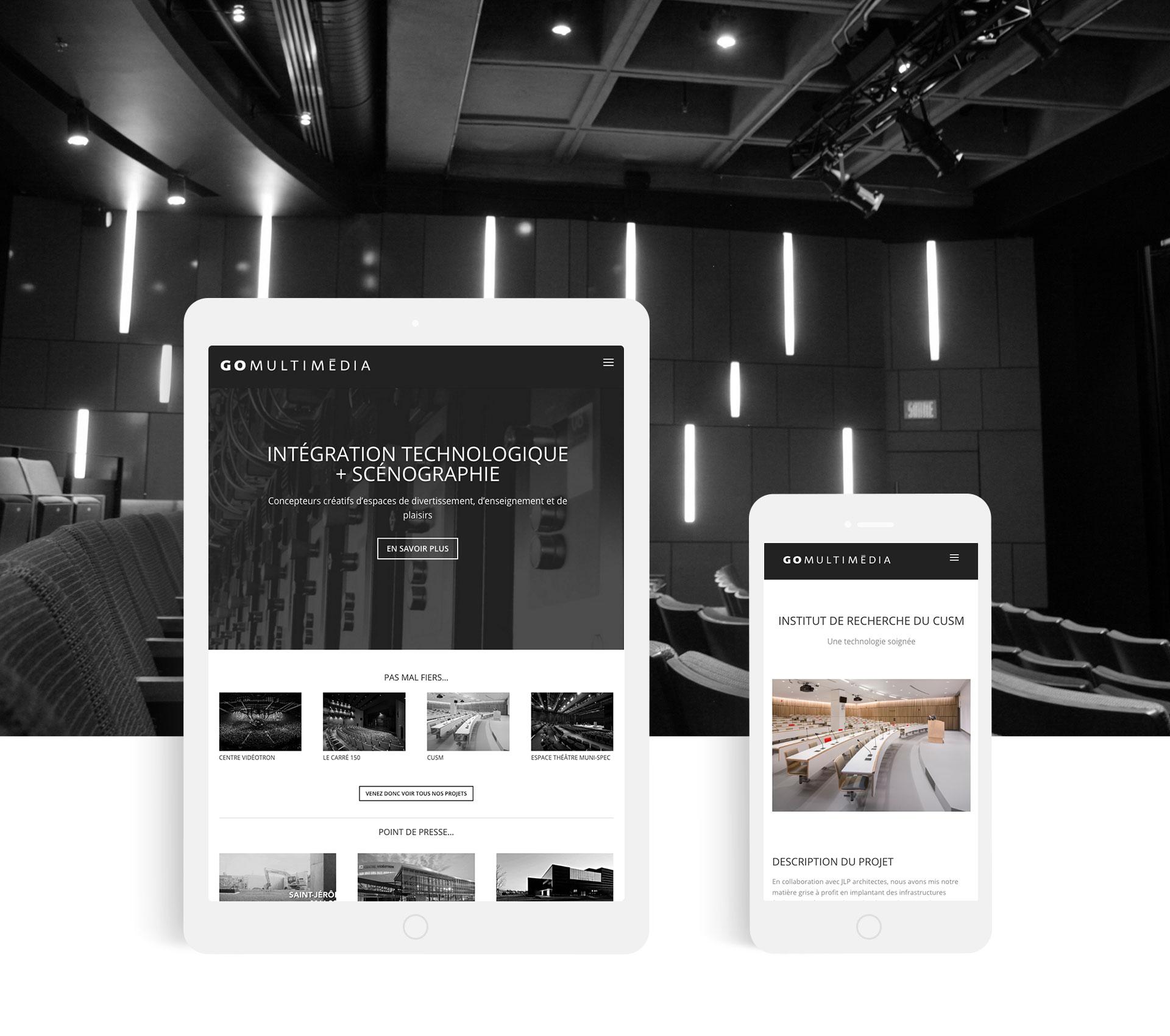 Site web Go Multimédia