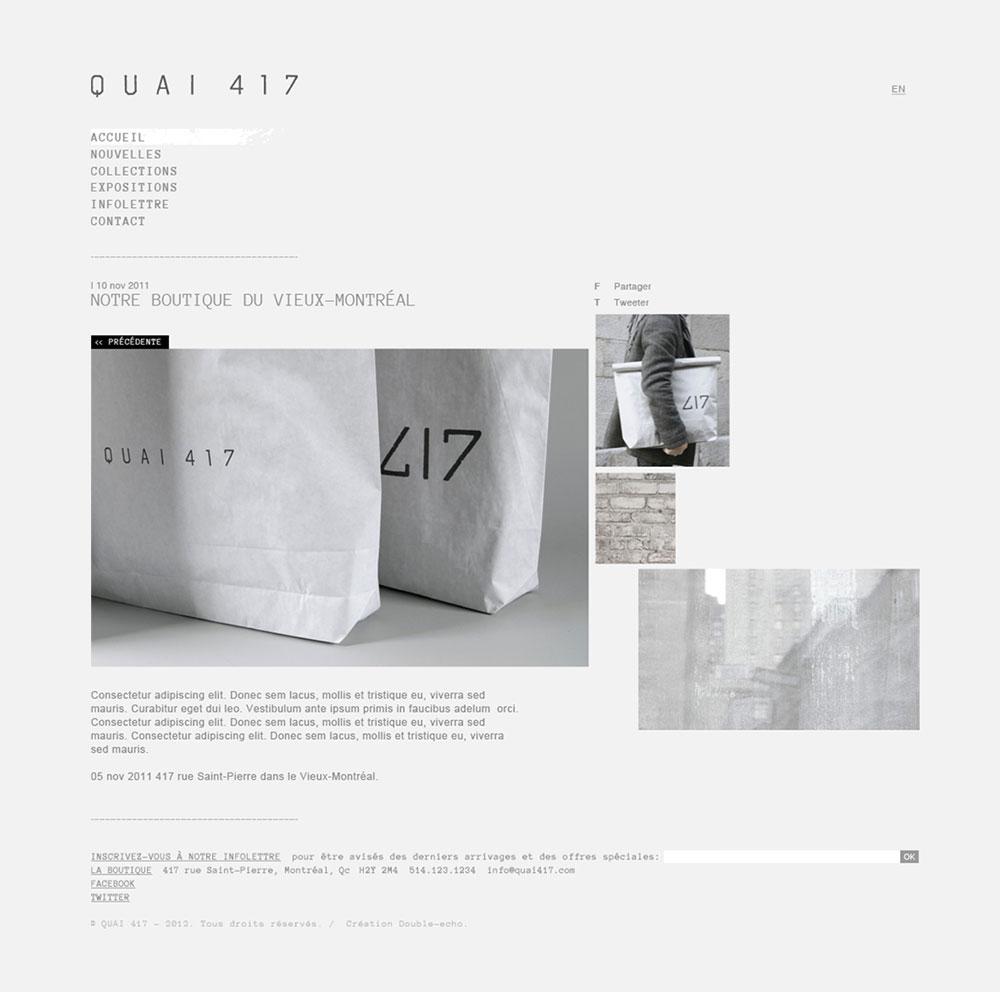 Design web Quai 417